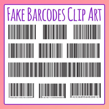 Fake Barcode / Bar Code Clip Art For Commercial Use