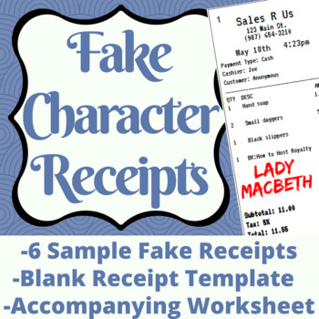 Fake Character Receipts