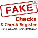 Fake Checks & Check Register - Ten Designs! {Fun Financial Literacy Resources}