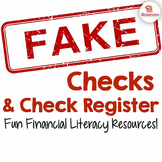 Fake Checks & Register - White Out Design {Fun Financial Literacy Resources}