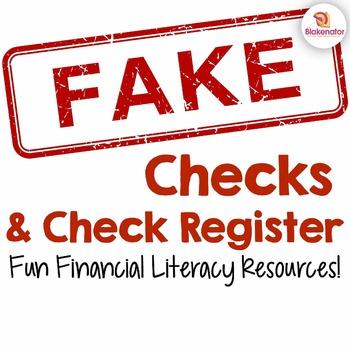 Fake Checks & Register - White Out Design {Fun Financial L