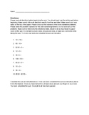 1st Day Directions Quiz