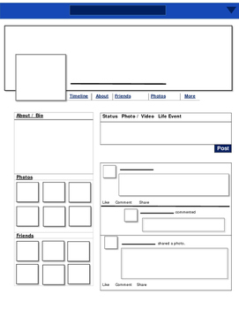 Blank Facebook Profile