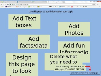 Fake Google website search for project presentations (powerpoint format)