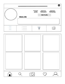 Blank Instagram Profile