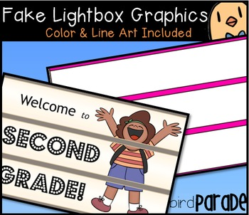 My Fake Lightbox Clipart