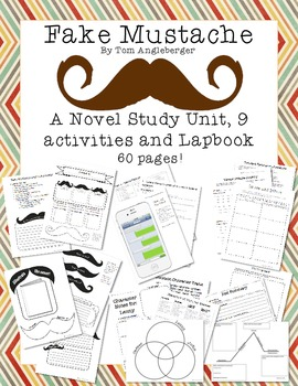 Fake Mustache by Tom Angleberger Novel Unit and Lapbook