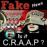 Fake News Is it CRAAP? Printable Guide and Bookmark