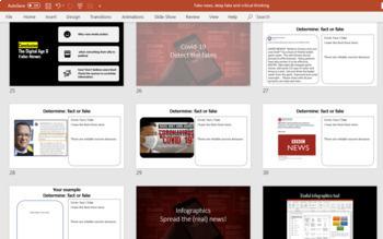coronavirus assignment - Fact or Fake? with covid-19 Fake News worksheet