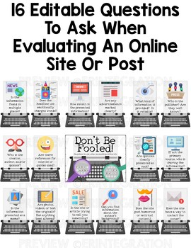 Fake News & Evaluating Online Information Digital Citizenship Bulletin Board