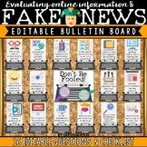 Fake News & Evaluating Online Information Digital Citizenship Bulletin Board