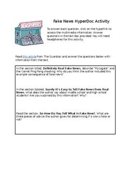 Fake News Hyperdoc