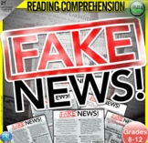 Fake News Media Bias Close Reading Comprehension Passage Distance Learning