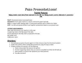 Fake Presentations!
