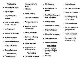 Fake & Real Reading Anchor Chart