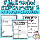 Fake Snow Experiment and Snow Writing Activities