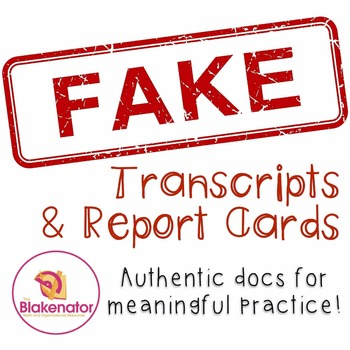 Fake Transcripts and Report Cards