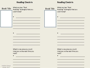 Fake vs. Real Reading - Reader's Notebook Page