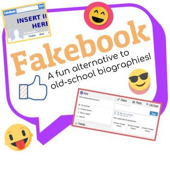 Fakebook: A Social Media Digital Template for Biographies