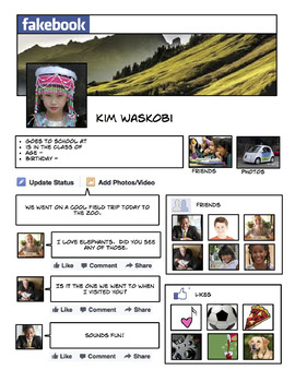 Comic Life Fakebook - Common Sense Media Lesson