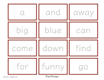 Game Boards - Dolch Sight Words Practice - Fall Fun Edition