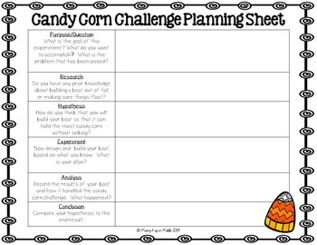 STEM Lab:  Fall/Halloween/Thanksgiving Themed-The Candy Corn Challenge