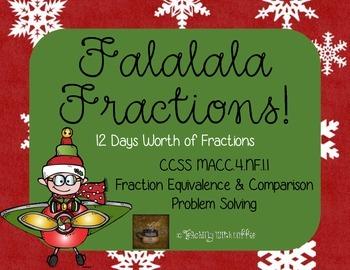 Falalala Fractions: 4th Grade Christmas-Themed Fraction Wo