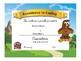 Falcon Award Certificates -Behavior