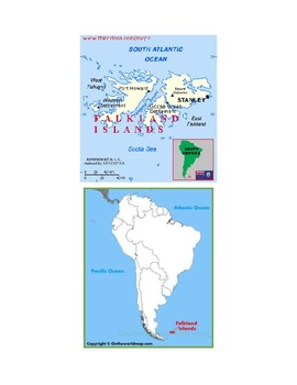 Falkland Islands Map Scavenger Hunt