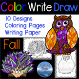 Fall Craft: Fall Coloring Pages and Fall Writing Paper