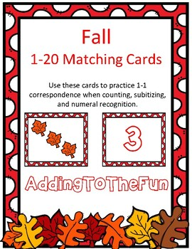 Fall 1-20 Matching Cards