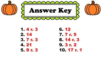 Fall 1-Digit into 2-Digit Division Walk-About by Kelly Katz