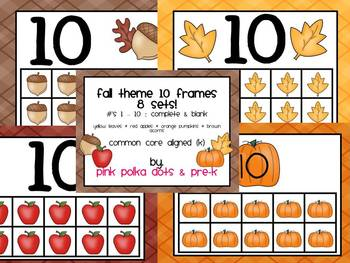 Fall 10 Frames MEGA Pack (#'s 1 - 10) - 8 Sets ~ Blank & Complete