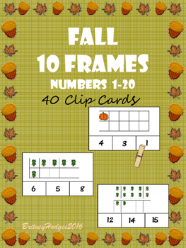 Fall 10 Frames: Numbers 1-20