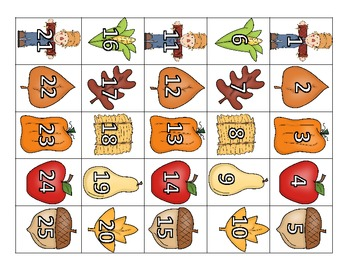 Fall 100 Chart Math Center Great for Common Core