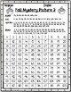 Fall Apple Tree 120 Chart Mystery Picture