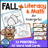 Fall Activities for Kindergarten: Fall Math and Language Worksheets