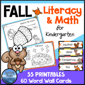 Fall Activities: Fall Math and Language for Kindergarten