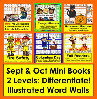 Fall Readers {VALUE BUNDLE} for September & October-6 Sets-2 Rdg.Levels