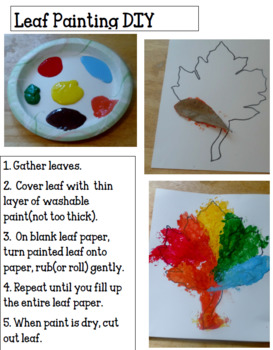 Fall Activities: Leaf Craft Activity