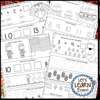 Fall, Math Worksheet Bundle, Fall Themed Daily Math, Fall Activities