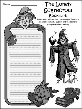 Fall Activities: The Lonely Scarecrow Activity Packet