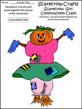 Fall Activities: Scarecrow Crafts Activity Packet
