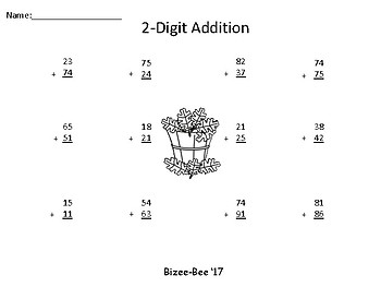 Fall 2-Digit Addition With Regrouping