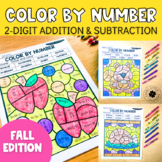 Fall 2-Digit Addition and Subtraction Color by Number No P