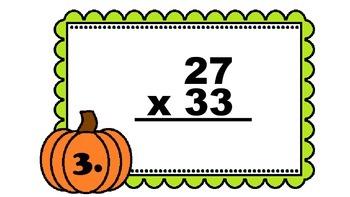 Fall 2-Digit Multiplication Walk-About by Kelly Katz