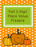 Fall 2-Digit Place Value Packet with Base Ten Blocks Freeb