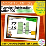 Fall 2 Digit Subtraction with and without regrouping BOOM™ Cards | 2.NBT.5