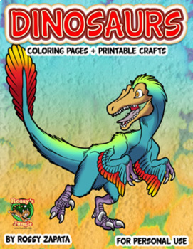 Fall 2018: Dinosaurs Coloring pages+Printable crafts