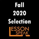 Fall 2020 Selection